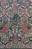 在可汗scho墙壁上的美丽的老装饰的绘的马赛克  库存图片