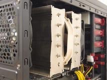 在台式计算机的冷却风扇 免版税库存照片