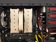 在台式计算机的冷却风扇 库存图片