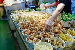 在台湾的鱼市 免版税库存图片