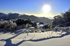 在台湾高山的日出 免版税库存图片