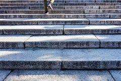 在台阶的人走的步 免版税库存图片