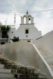 在台阶顶部的教会 免版税库存图片