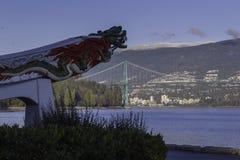 在史丹利公园的中国龙在温哥华 库存图片