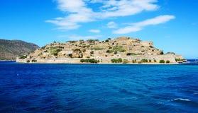 在史宾纳隆加岛海岛上的堡垒 免版税库存照片