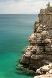 在史宾纳隆加岛海岛,克利特,希腊上的老威尼斯式堡垒 免版税库存图片