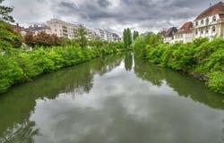 在史特拉斯堡郊外,法国 免版税库存照片