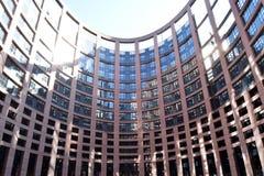 在史特拉斯堡-法国03的欧洲Perlamento的一天 免版税库存照片