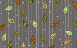 在叶子样式的背景 免版税库存图片