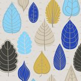 在叶子题材的色的样式 秋天样式 库存照片