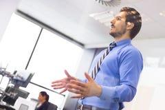 在合作会议的企业介绍 免版税图库摄影