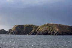 在合恩角的著名灯塔-火地群岛群岛的最南端的点  免版税库存图片