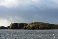 在合恩角的著名灯塔-火地群岛群岛的最南端的点  免版税库存照片