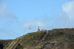 在合恩角的著名灯塔-火地群岛群岛的最南端的点  库存照片