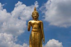 在合艾,泰国的大菩萨雕象 免版税图库摄影