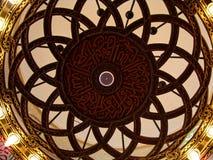在吉达清真寺qishas里面的详细资料 库存照片