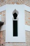在吉隆坡Jamek清真寺的尖塔细节在马来西亚 免版税库存图片