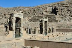 在同水准的古老波斯波利斯复合体,伊朗 图库摄影