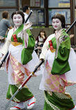 在名古屋节日,日本的Maiko 库存图片