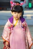 在后乐园的Shichi去圣庆祝在冈山 库存图片
