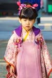 在后乐园的Shichi去圣庆祝在冈山 库存照片