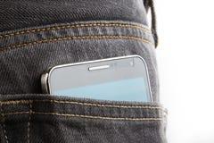 在后面口袋的手机 库存图片