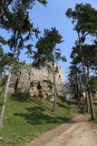 在含沙岩石的城堡 免版税库存照片