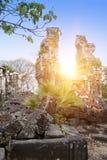 在吴哥窟,暹粒,柬埔寨的古庙12世纪 免版税库存图片