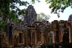在吴哥窟,柬埔寨的寺庙废墟 库存图片