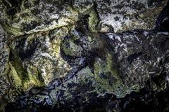 在和平的海滨的岩石 免版税库存照片
