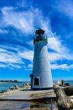 在和平的海滩的烽火台 库存照片