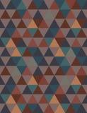 在和谐颜色的正面三角无缝的纹理 免版税库存图片