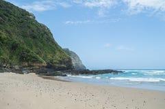 在咖啡海湾,东开普省,南非的海滩 免版税库存照片