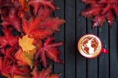 在咖啡的世界地图 图库摄影