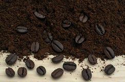 在咖啡的咖啡 库存图片