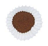 在咖啡过滤器的咖啡 库存图片