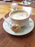 在咖啡馆的咖啡由废墟碧瑶菲律宾 库存照片