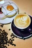 在咖啡馆的咖啡 库存照片