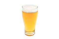 在品脱玻璃的琥珀色的啤酒 免版税库存照片