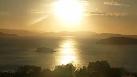 在哈密尔顿岛的日落 库存照片