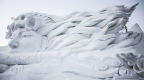 在哈尔滨冰和雪节日的雪雕在哈尔滨中国 图库摄影