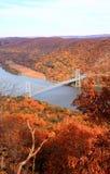 在哈得逊河区域的叶子风景 库存图片