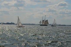 在哈得逊河的风船 库存照片