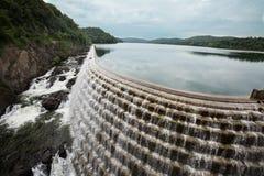 在哈德森,纽约美国的巴豆水坝 免版税库存照片