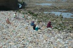 在哈桑二世清真寺的海滩 库存照片