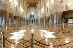 哈桑II国王清真寺在卡萨布兰卡,摩洛哥 图库摄影