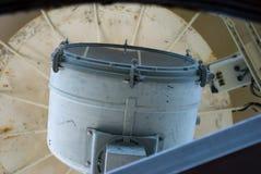 在哈特拉斯角全国海滨的历史的Bodie海岛灯塔在北卡罗来纳外面银行  免版税库存图片