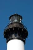 在哈特拉斯角全国海滨的历史的Bodie海岛灯塔在北卡罗来纳外面银行  库存照片