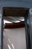 在哈特拉斯角全国海滨的历史的Bodie海岛灯塔在北卡罗来纳外面银行  库存图片