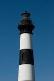 在哈特拉斯角全国海滨的历史的Bodie海岛灯塔在北卡罗来纳外面银行  免版税图库摄影